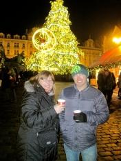 Drinking Svařák in Staroměstské Náměstí
