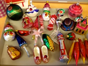 new czech handblown christmas ornaments for mom :)
