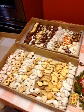 Delicious christmas cookies.