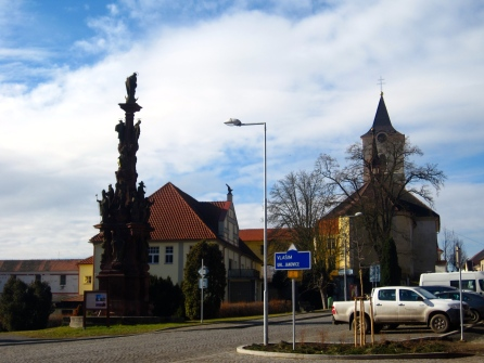 town square in Kácov